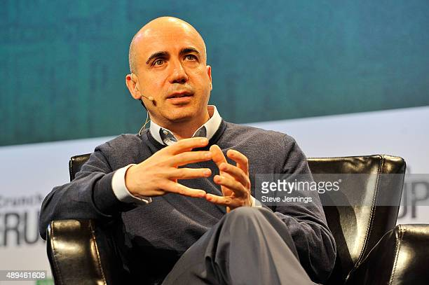 Founder Yuri Milner speaks onstage during day one of TechCrunch Disrupt SF 2015 at Pier 70 on September 21 2015 in San Francisco California