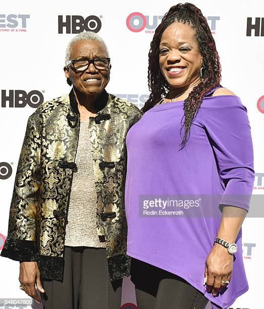 VHF founder/CEO Jewel Thais Williams and Evelyn Champagne King attend 2016 Outfest Los Angeles LGBT Film Festival screening of Jewels Catch One at...