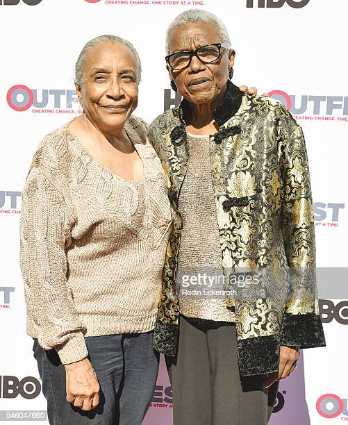 VHF founder/CEO Jewel ThaisWilliams and Rue ThasWilliams attend 2016 Outfest Los Angeles LGBT Film Festival screening of Jewels Catch One at Harmony...