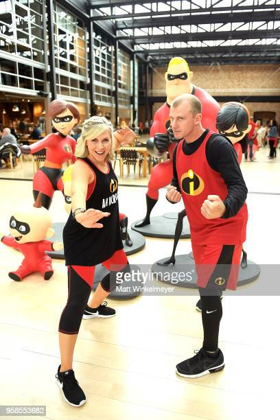 Founder/CEO of HerUniverse Ashley Eckstein and David Eckstein attend Incredibles Day as influencers from around the world celebrate with fun...
