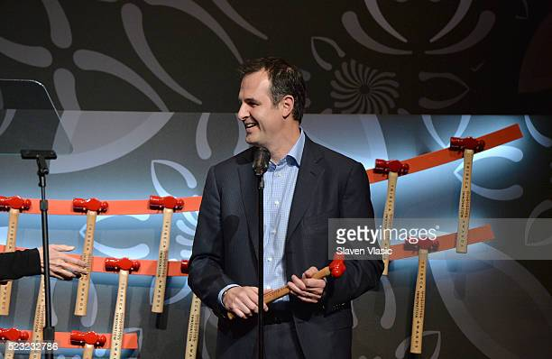 Founder/CEO of Lending Club online leader Renaud Laplanche speaks on stage at Tribeca Disruptive Innovation Awards 2016 Tribeca Film Festival at BMCC...