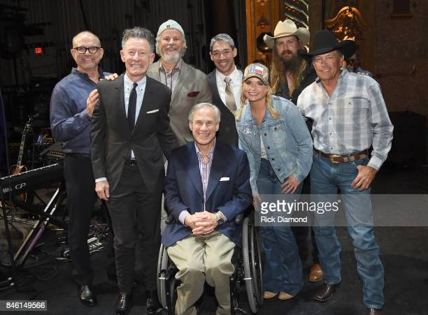 Founder/CEO of Messina Touring Group Louis Messina musicians Lyle Lovett Robert Earl Keen Governor of Texas Greg Abbott San Antonio Mayor Ron...