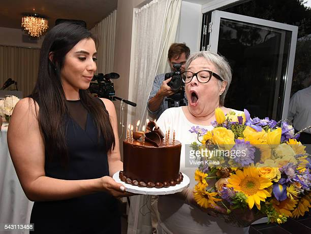 Founder/CEO of Stacey Ruiz Events Stacey Ruiz and actress Kathy Bates celebrate Kathy's birthday at Academy AwardWinner Kathy Bates Hosts Reception...