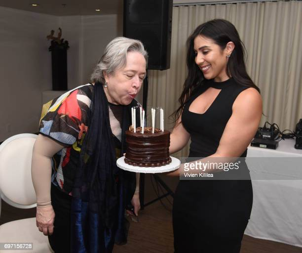 Founder/CEO of Stacey Ruiz Events Stacey Ruiz and actress Kathy Bates attend Academy Award Winner and LERN Spokesperson Kathy Bates Hosts Reception...