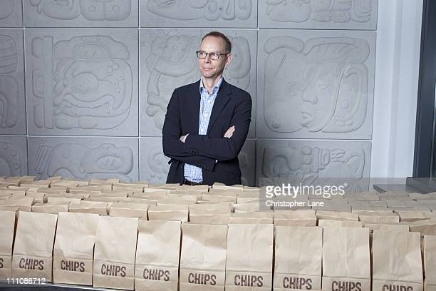 Founder/CoCEO and Chairman of Chipotle Steve Ells is photographed for Fortune Magazine on September 8 2010 in New York City New York Published image