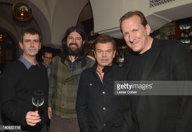 Founder/CoCEO of AAM Mark Beaven CEO of Gobbler Chris Kantrowitz Paul Oakenfold and Peter Katsis attend the Friends N Family Dinner Hosted by Mark...