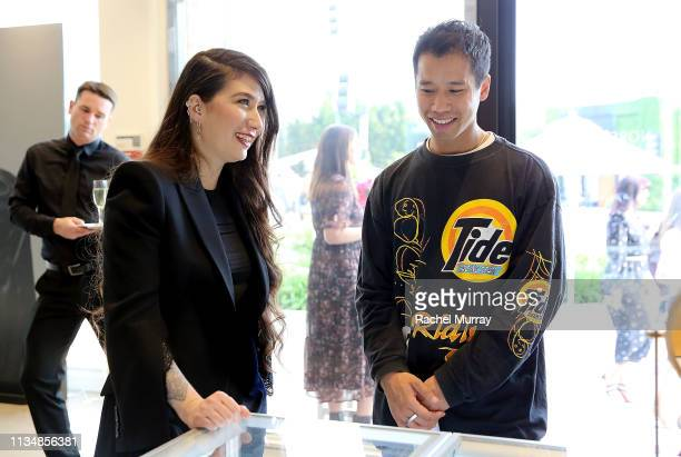 Founder/Designer Maria Tash and Just Jared Founder Jared Eng attend the Maria Tash x Nordstrom SPACE PopUp on April 3 2019 in Los Angeles California