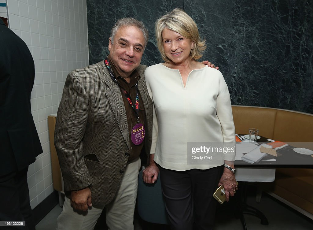Founder/Director of SOBEWFF Lee Brian Schrager and Martha Stewart pose at the Rose Brunch Hosted By Martha Stewart during Food Network & Cooking Channel New York City Wine & Food Festival presented By FOOD & WINE at Beauborg on October 17, 2015 in New York City.