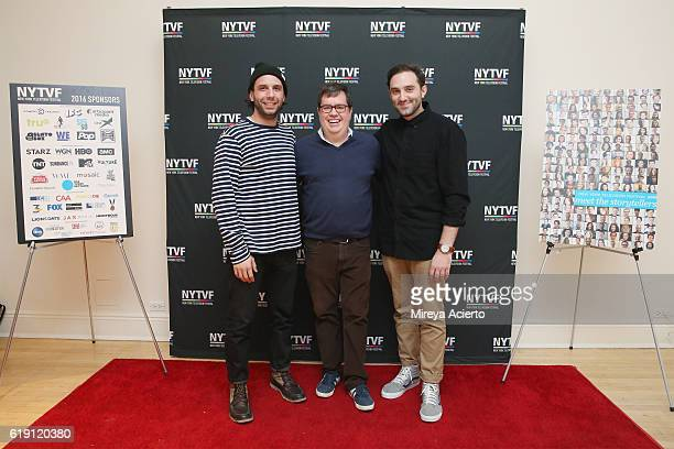 Founder/executive director of New York Television Festival Terence Gray joins Phil Matarese and Mike Luciano of Animals during the 12th Annual New...