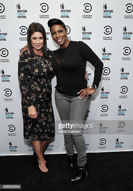 Founder/owner of Carolines comedy club and New York Comedy Festival Caroline Hirsch and comedian Sommore attend The New York Comedy Festival Annual...