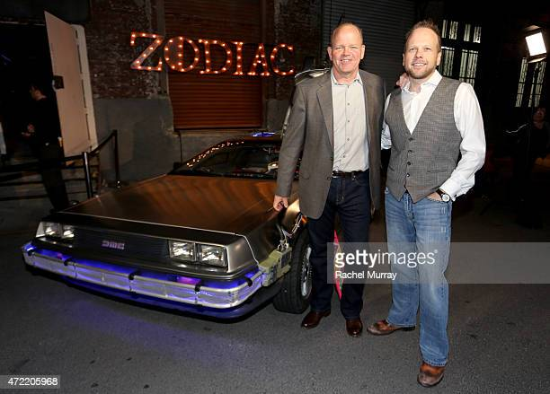 Founder/president of Zodiac Vodka Tom Benson and CEO of Zodiac Vodka Dan Liguori attend an exclusive launch party introducing Zodiac Vodka to the...