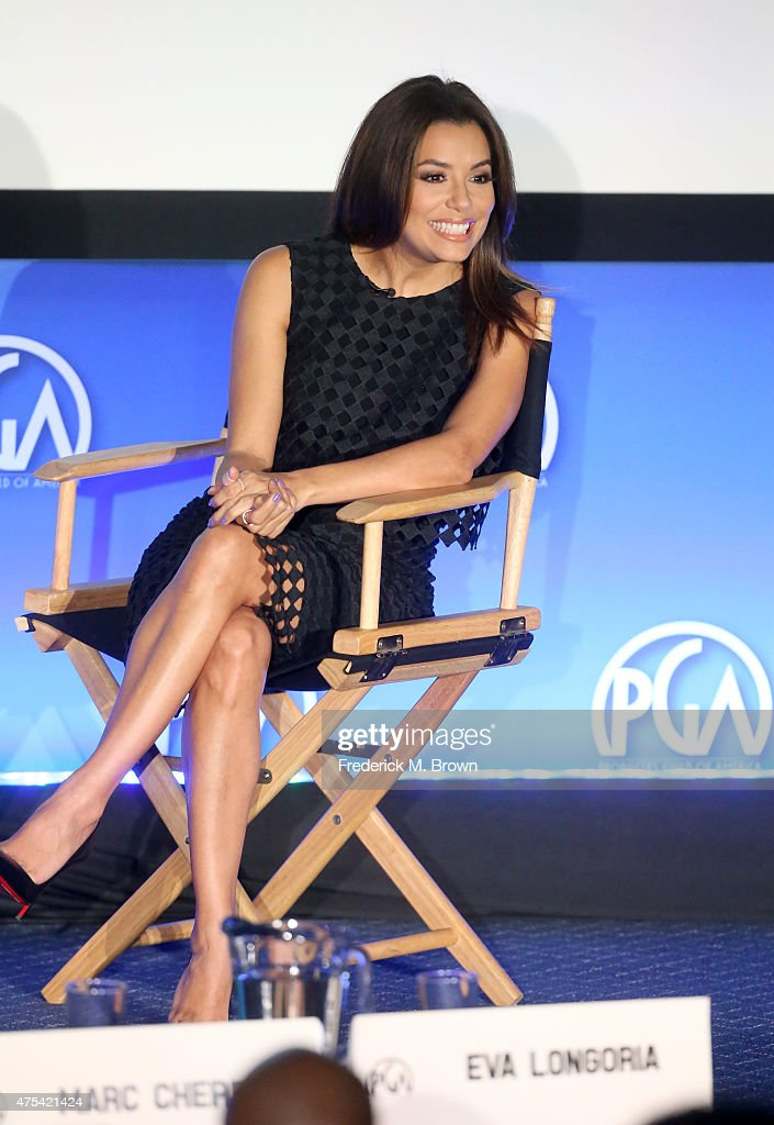 Founder/Producer, UnbeliEVAble Entertainment Eva Longoria speaks at the 7th Annual Produced By Conference at Paramount Studios on May 31, 2015 in Hollywood, California.