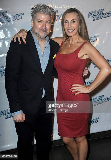 Founder/publisher Chris Gore and actress Tanya Tate at the Launch Party For 'Film Threat' Online held at The Berrics on January 14 2017 in Los...