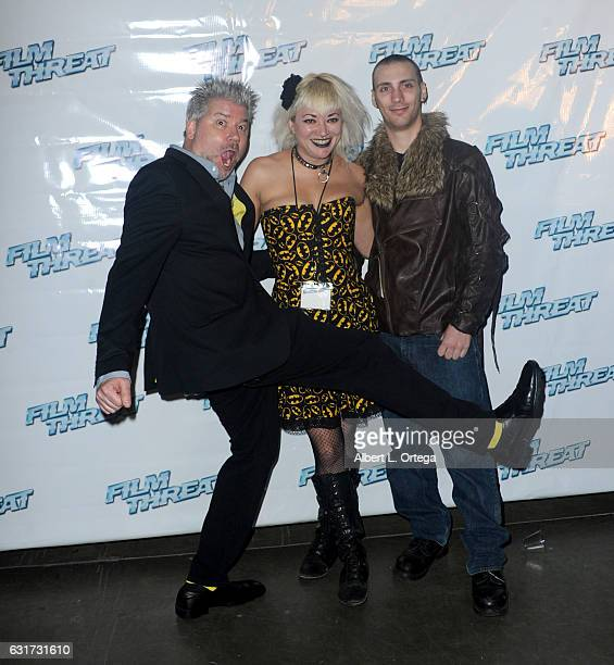 Founder/publisher Chris Gore with guests at the Launch Party For 'Film Threat' Online held at The Berrics on January 14 2017 in Los Angeles California