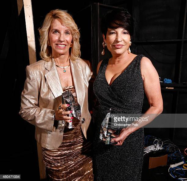 Founder's Award honorees Judith Parker Harris and Bonnie Spence attend Women In Film 2014 Crystal Lucy Awards presented by MaxMara BMW PerrierJouet...