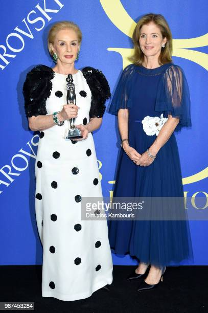 Founders award winner, Carolina Herrera and Caroline Kennedy attend the 2018 CFDA Fashion Awards at Brooklyn Museum on June 4, 2018 in New York City.