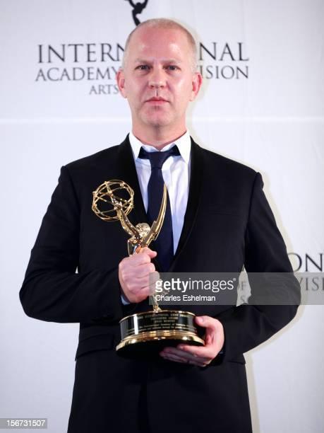 Founders award winner Ryan Murphy attends the 40th International Emmy Awards at Mercury Ballroom at the New York Hilton on November 19 2012 in New...