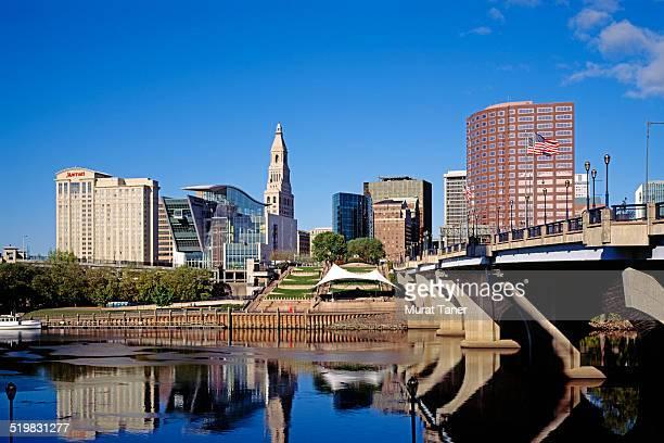 Founders Bridge and Hartford skyline