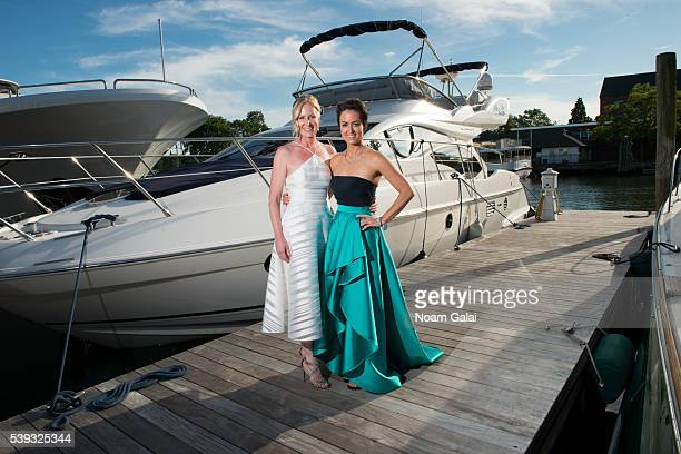 GIFF founders Colleen deVeer and Wendy Reyes pose for a photo during the 2016 Greenwich International Film Festival on June 10 2016 in Greenwich...