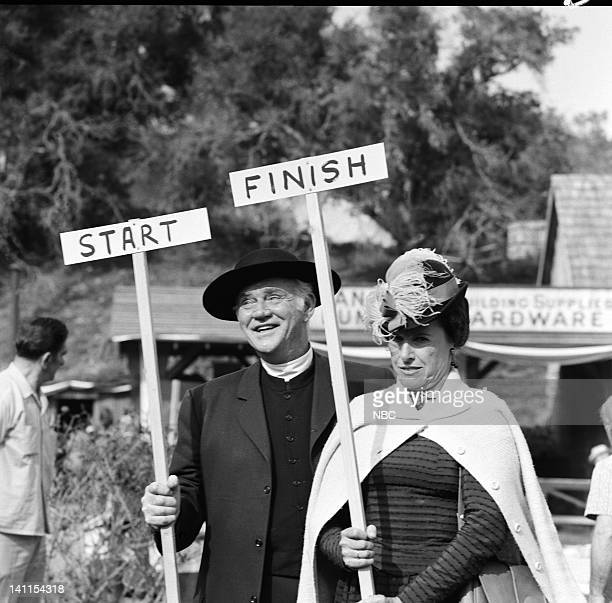 PRAIRIE Founder's Day Episode 24 Aired Pictured Dabbs Greer as Reverend Robert Alden Scottie MacGregor as Harriet Oleson Photo by George Hurrell/NBCU...