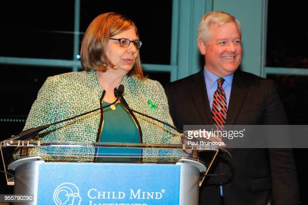 Founders of Attitudes in Reverse Tricia Baker and Kurt Baker accept the People's Choice Award during the 2018 Change Maker Awards at Carnegie Hall on...