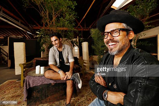 Founders of Habitas a new festival and event series Kfir Levy Eduardo Castillo are photographed for Los Angeles Times on July 8 2015 in Los Angeles...