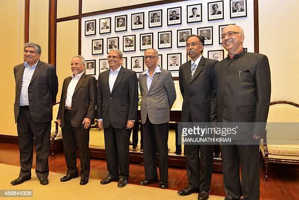 Founders of Indian IT firm, Infosys Technology N.R. Narayana Murthy , Kris Gopalakrishna , N.S. Raghavan , S.D. Shibulal , K. Dinesh and Nandan...