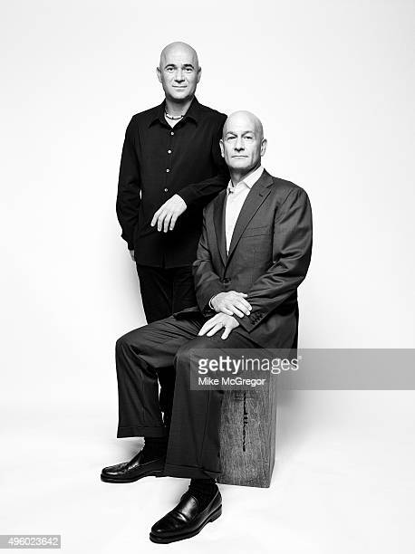 Founders of TurnerAgassi Charter School Facilities Andre Agassi and Bobby Turner are photographed for Institutional Investor Magazine on September 10...
