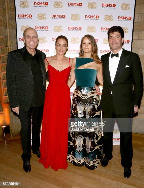 DKMS Founders Peter Harf and daughter Katharina Harf pose with Charlotte and Alejandro Santo Domingo at the DKMS Big Love Gala at The Natural History...