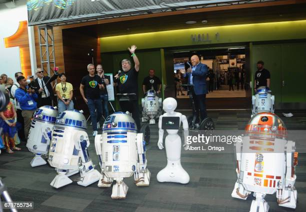 Founders Rick White and Steve Wozniak open the Silicon Valley Comic Con 2017 held at San Jose Convention Center on April 22 2017 in San Jose...