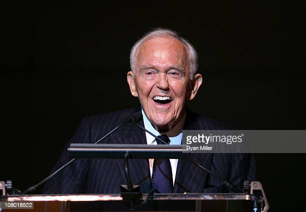 Founding Chairman Henry Segerstrom at the Orange County Perfroming Arts Center's renaming ceremony to Segerstrom Center for the Arts on January 12...