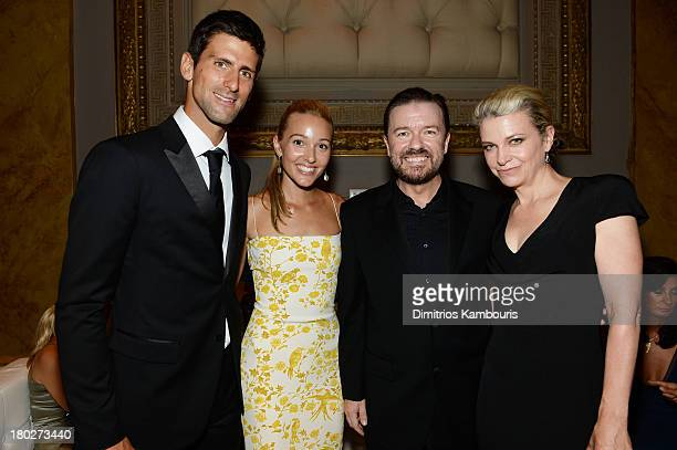 Founding Chairman of the Novak Djokovic Foundation Novak Djokovic Executive Director of the Novak Djokovic Foundation Jelena Ristic comedian Ricky...