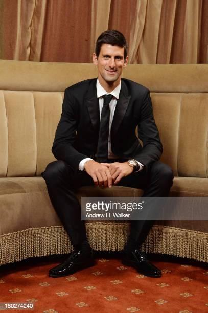 Founding Chairman of the Novak Djokovic Foundation Novak Djokovic attends The Novak Djokovic Foundation New York Dinner at Capitale on September 10...
