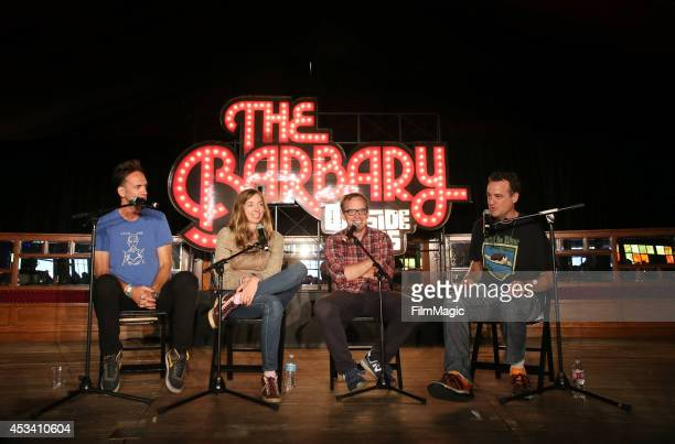 Founding member of Upright Citizens Brigade Matt Besser actors Lauren Lapkus Chris Gethard and Seth Morris perform with Improve4Humans at The Barbary...