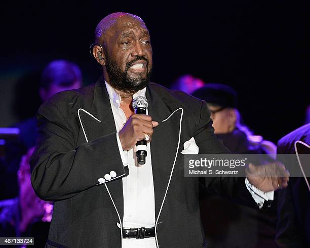 Founding member Otis Williams performs during The Temptations appearance at The Canyon Club on March 20 2015 in Agoura Hills California