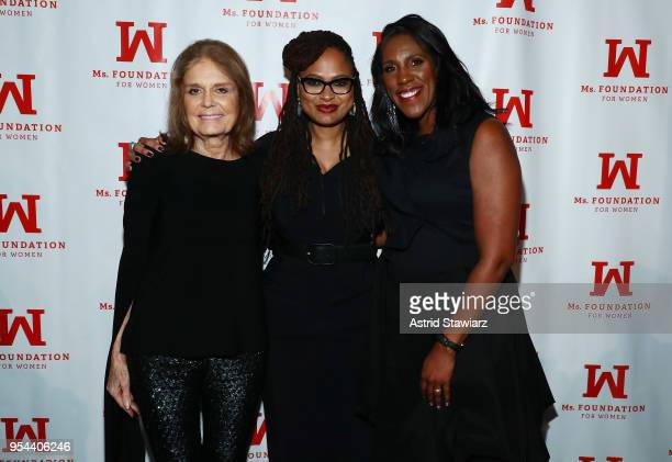Founding Mother Gloria Steinem Academy AwardNominated Director and WOV Honoree Ava DuVernay and President and CEO Ms Foundation for Women Teresa...