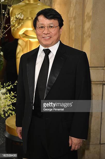 Founding Partner IDG China Media Hugo Shong arrives at the Oscars at Hollywood Highland Center on February 24 2013 in Hollywood California