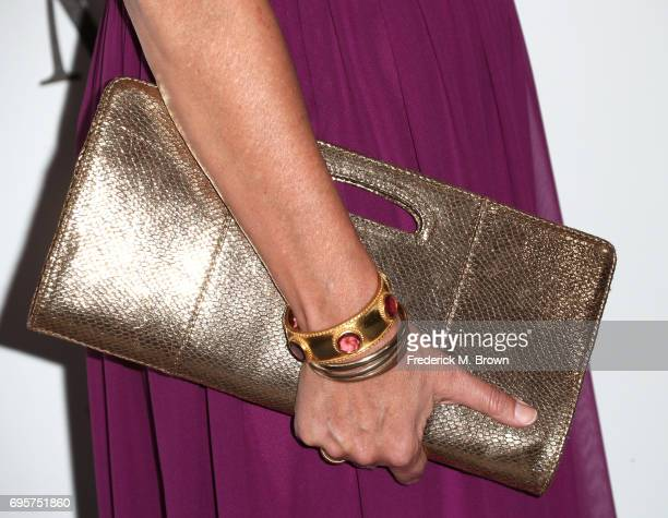 Founding partner Jane Fleming purse detail attends the Women In Film 2017 Crystal Lucy Awards presented By Max Mara and BMW at The Beverly Hilton...