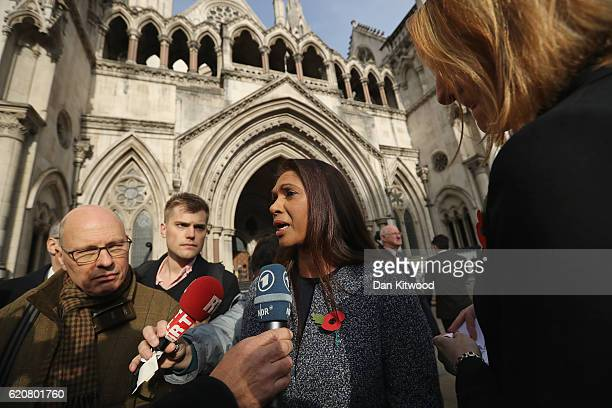 Founding partner of SCM Private LLP Gina Miller speaks after the High Court decides that the Prime Minister cannot trigger Brexit without the...