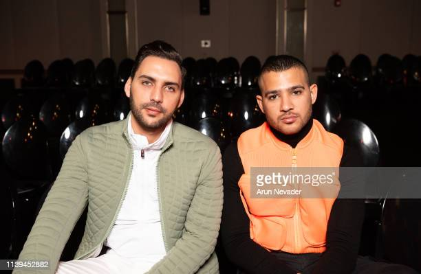 Founding publisher and Editor in Chief AMDmode Ahmad Daabas and Ghassan Kayed attend Jordan Fashion Week 019 on March 30 2019 at the Kempinski Amman...