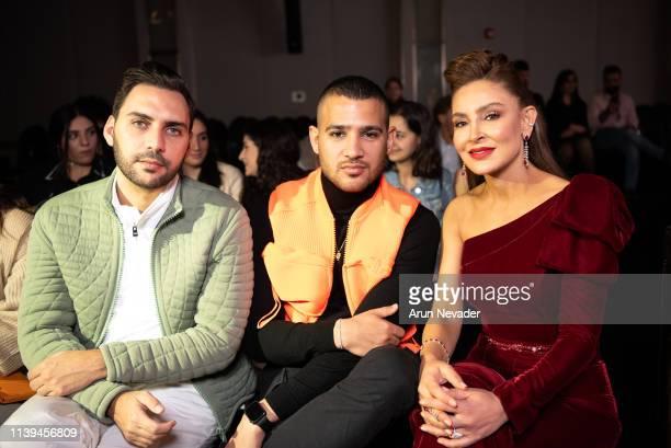 Founding publisher and Editor in Chief AMDmode Ahmad Daabas Founder of Jordan Fashion Week Shirene Rifai and Ghassan Kayed attend Jordan Fashion Week...