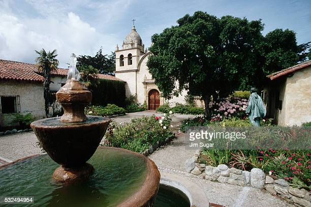 Fountain and Gardens at Carmel Mission