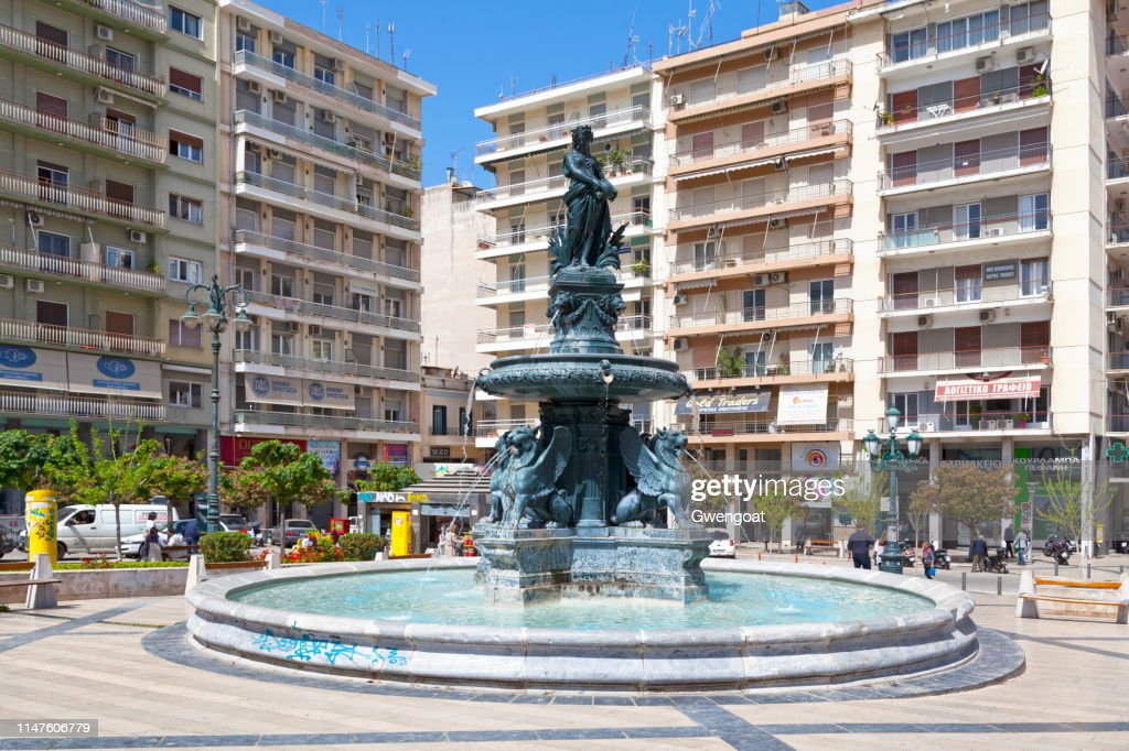 Fountain at Georgiou I Square in Patras : Stock Photo