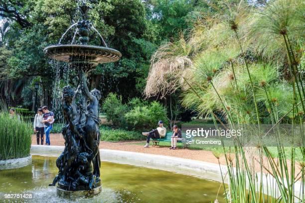 A fountain at Jardin Botanico Carlos Thays botanical garden