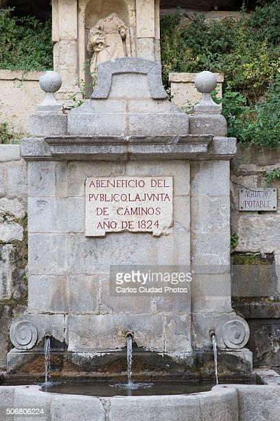 Fountain at the sanctuary of Nuestra Señora de Fuencisla
