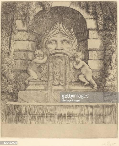 Grotesque, Children and Basin . Artist Alphonse Legros.