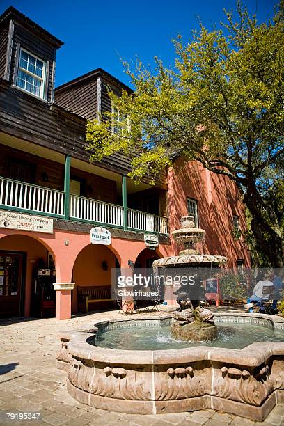 Fountain in front of a building, St. George Street, St. Augustine, Florida, USA