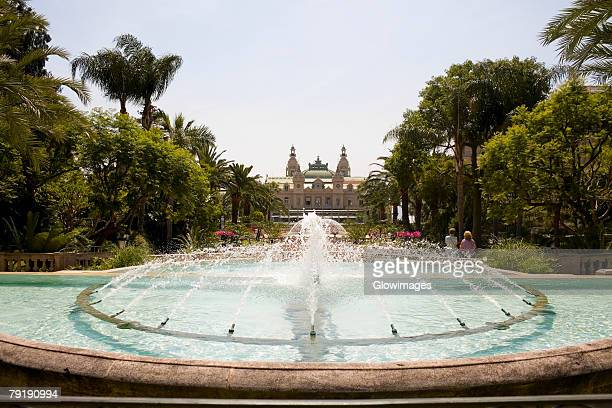 Fountain in front of a casino, Grand Casino, Monte Carlo, Monaco