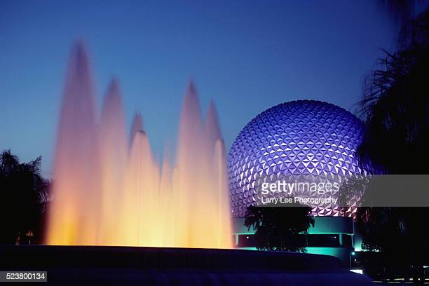 Fountain in Front of Epcot Center
