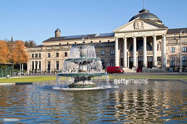 Fountain in front of Kurhaus Wiesbaden